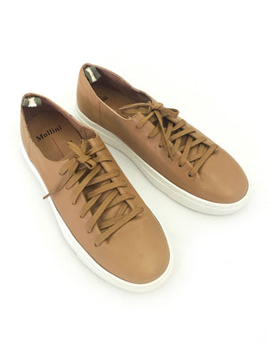 The Orphic Tan Leather Sneakers.  A cool and on-trend leather sneaker.