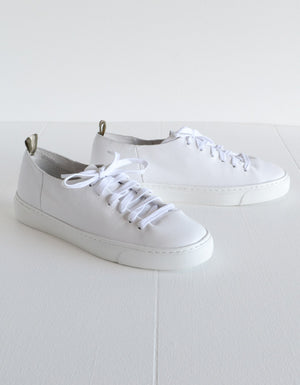 The Orphic White Leather Sneakers.