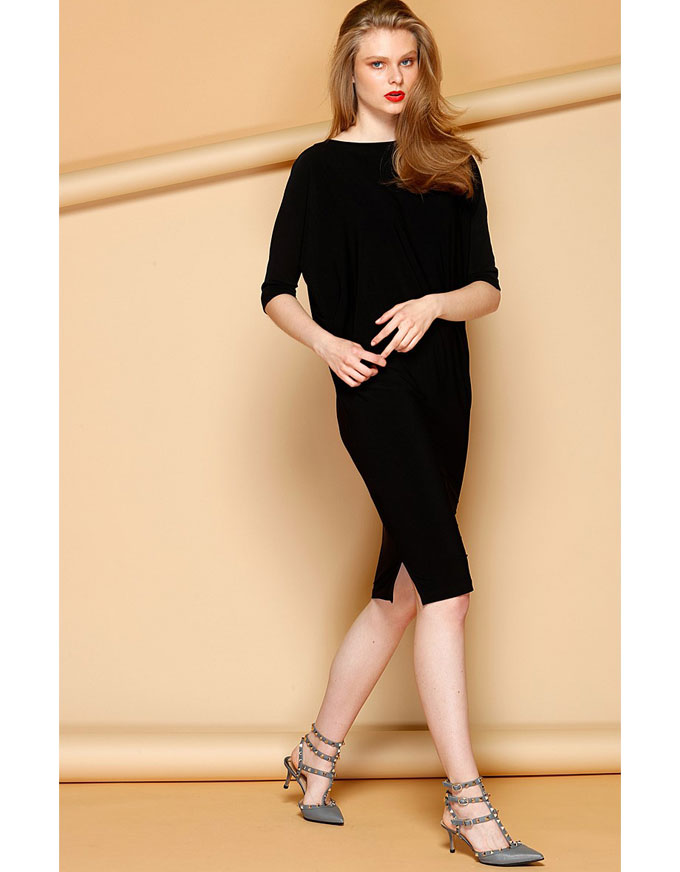 The Batwing Reversible Dress in Black.