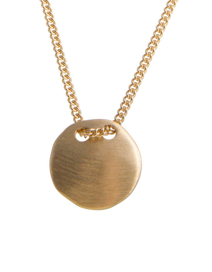 Tag Necklace Gold