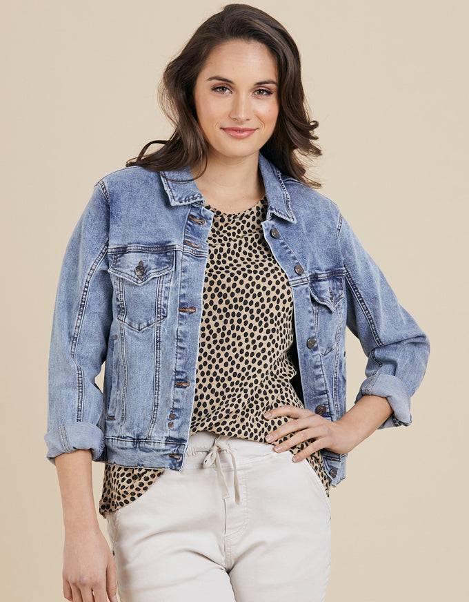 The Threadz Denim Jacket.  A wardrobe essential that never goes out of style.