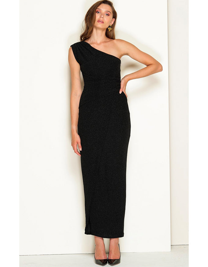 Valedictory Maxi Dress Black Lurex