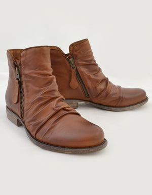 Willet Ankle Boots in Brandy.