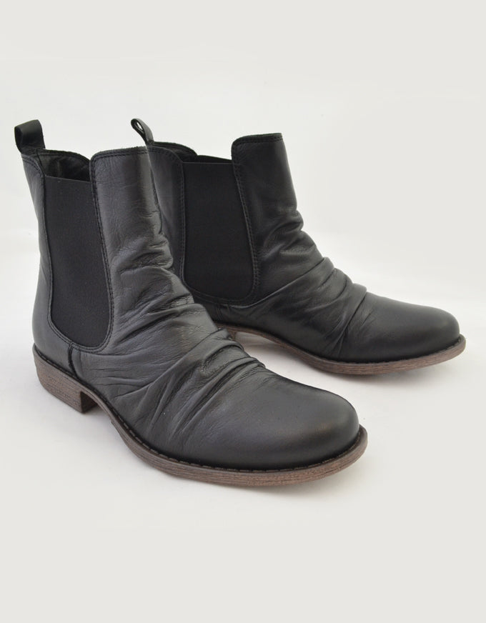 The Willo Ankle Boots in Black.
