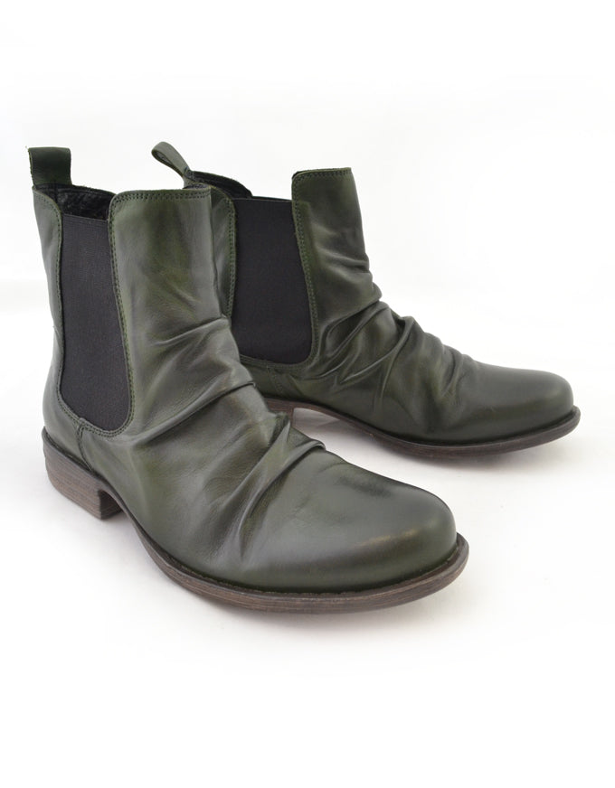 The Willo Ankle Boots in Forest.