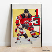 Kevin Clark Nico Hischier Autographed 16x20 Painting
