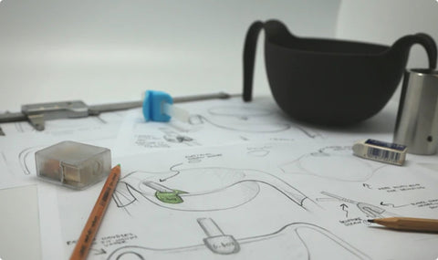 bowl and straw sketch