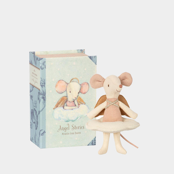 Angel Mouse in Book Box | Maileg