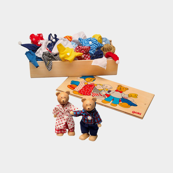 Dress-up Wooden Bears