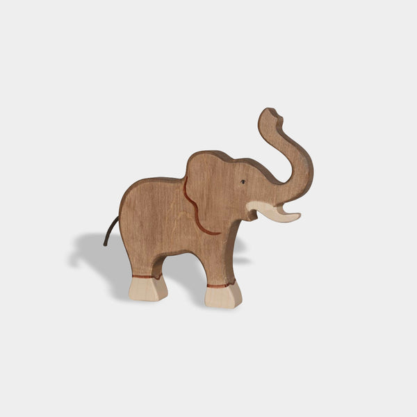 Elephant with Raised Trunk | Holztiger Wooden Animals