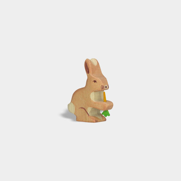 Hare with Carrot | Holztiger Wooden Animals