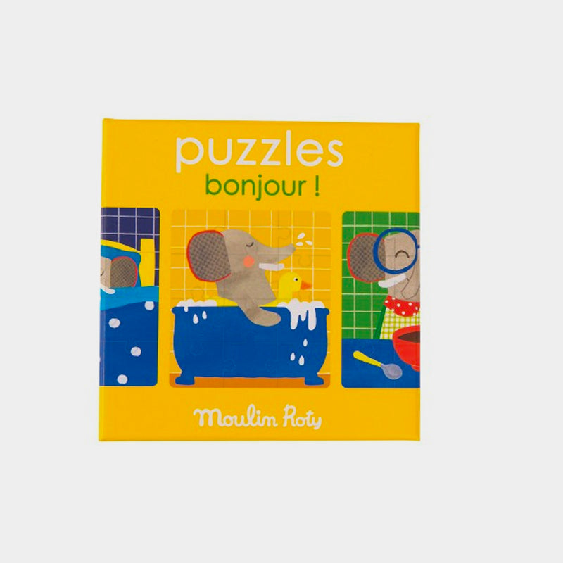 Bonjour! Puzzles Set | Moulin Roty