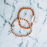 Beaded Shell Bracelet Set
