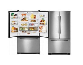 Whirlpool 5GFF25PRYA 3 Door Bottom Mount Refrigerator