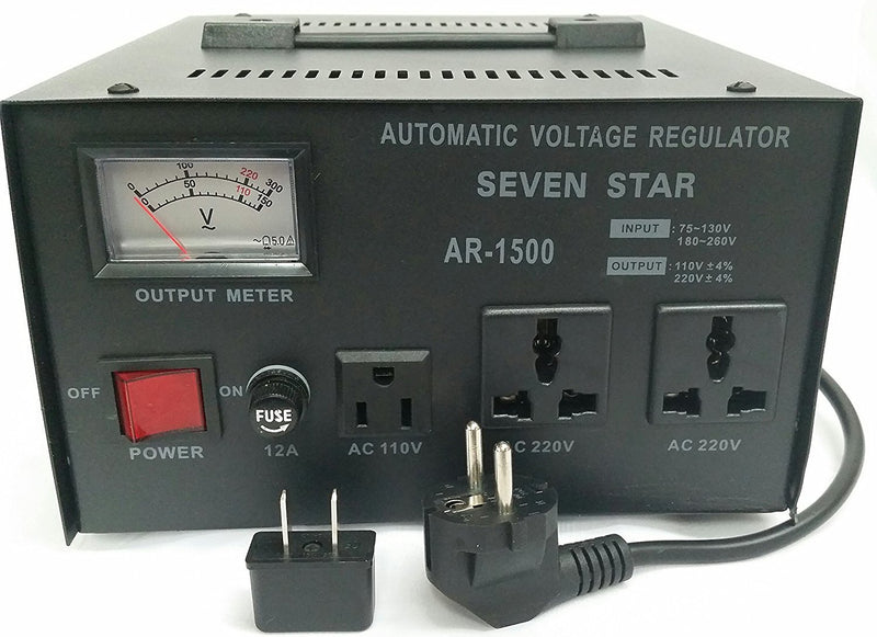 Seven Star AR-1500 Automatic Voltage Regulator Stabilizer Step Up / Down 1500 Watts