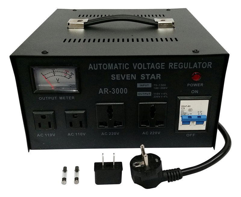 Seven Star AR-3000 Automatic Voltage Regulator Stabilizer Step Up / Down 3000 Watts