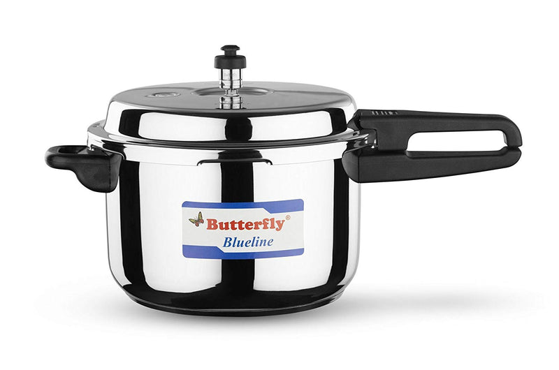 Butterfly BL-7.5L Blue Line Stainless Steel Pressure Cooker, 7.5-Liter