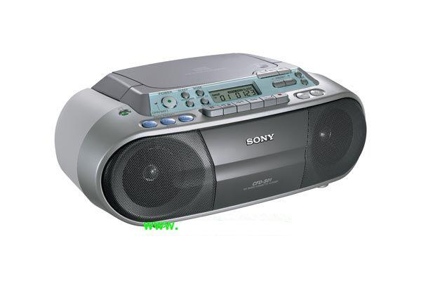 SONY CFD-S01 CD/CD-R/CD-RW RADIO CASSETTE RECORDER