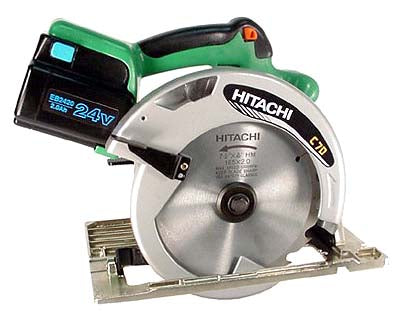 Hitachi C7D Cordless Circular Saw with Powerful, Fan-Cooled 24V DC Motor 220V