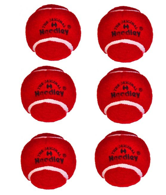Headley Cricket Tennis Balls (Pack of 6), Red