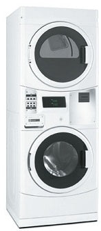 Maytag MLG20PNAGW Commercial Stacked Gas Washer Dryer 220 Volts