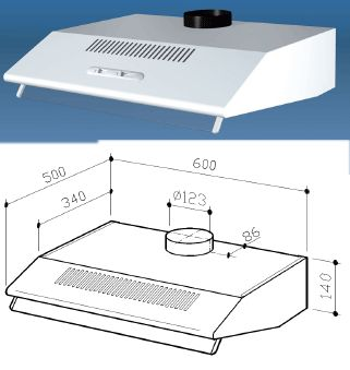 Multistar MUC30HDWW-COM Ducted or Ductless Range Hood for 220 Volts