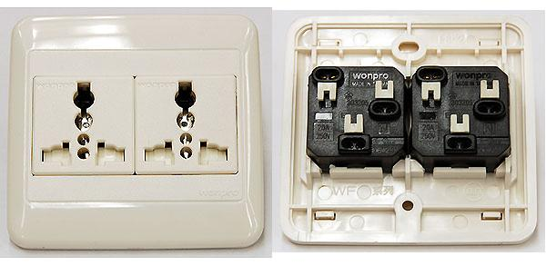 Receptacle UniWF6N2R4S DBL universal receptacle FOR 250V
