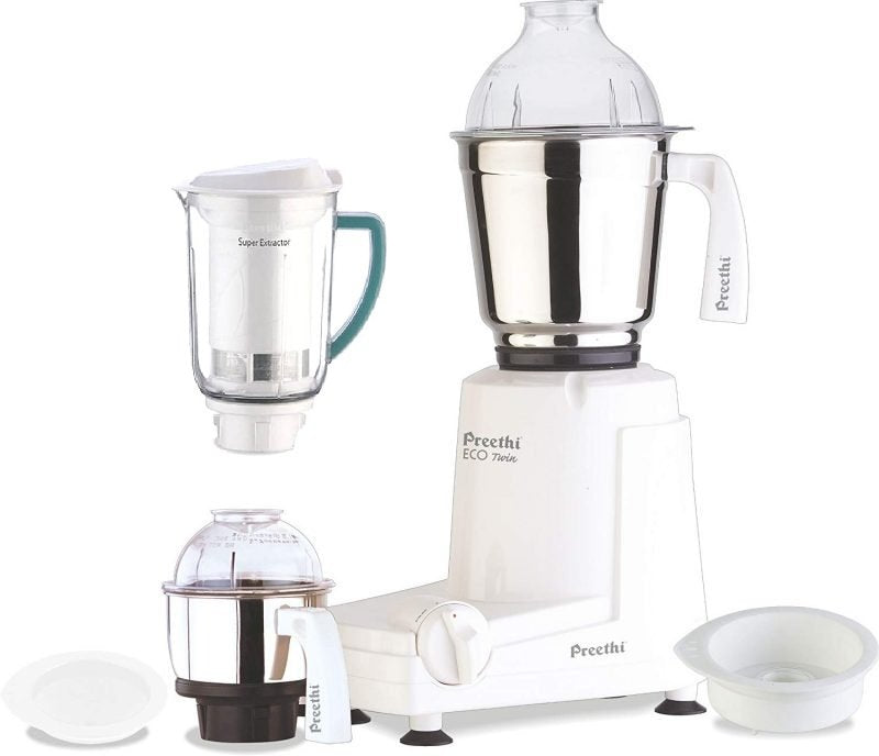 Preethi Eco Twin Jar Mixer Grinder with Super Extractor 110V