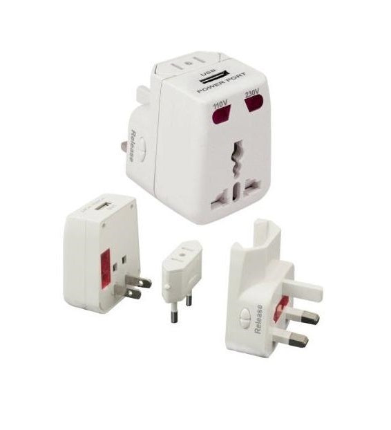 OneAdapter ChargerPlus All-In-One Universal Travel Plug Adapter USB
