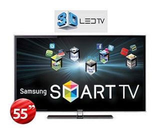 Samsung UA-55D6600 55'' Multi-System Full HD 1080p 3D LED TV