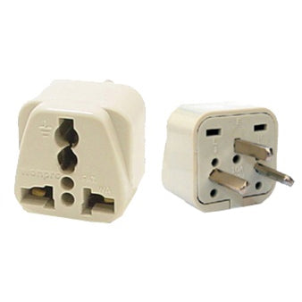 Universal Grounded Flat Travel Plug Adapter Israel Palestine