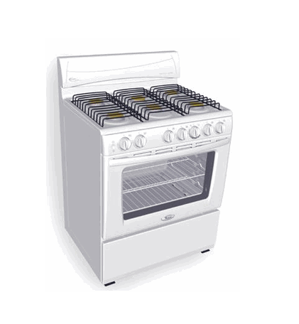 "Whirlpool NWF30906SQ 30"" Gas Cooking Range 220V"
