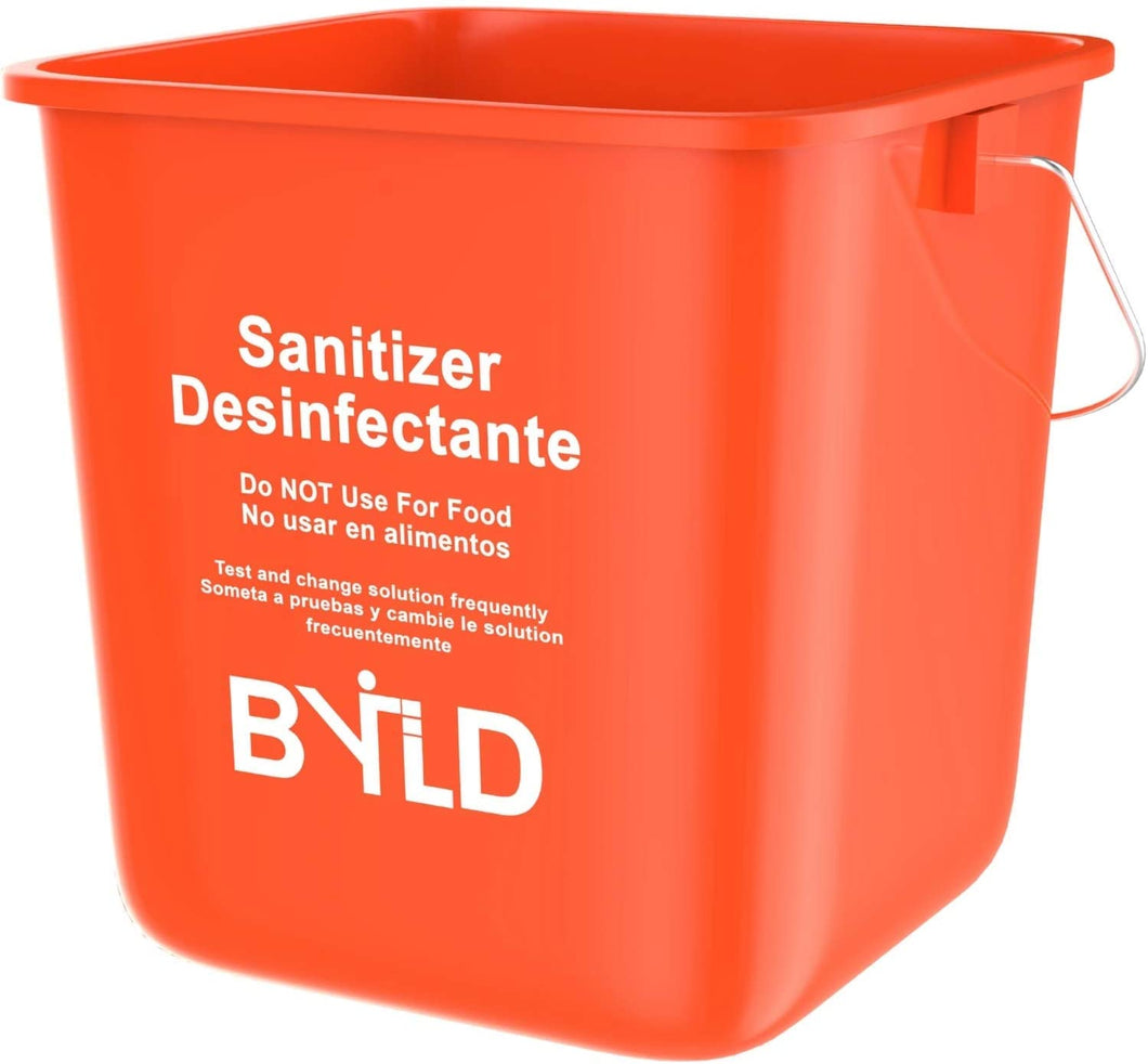 Red Sanitizing Bucket - 3 Quart