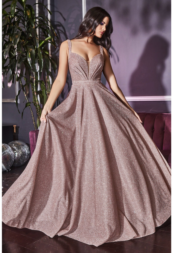 J792 SPARKLE BALL GOWN Glitter ball gown, lace up corset back, tulle layered skirt.