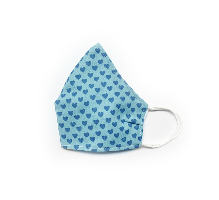 Blue Hearts (Reusable Face Mask)