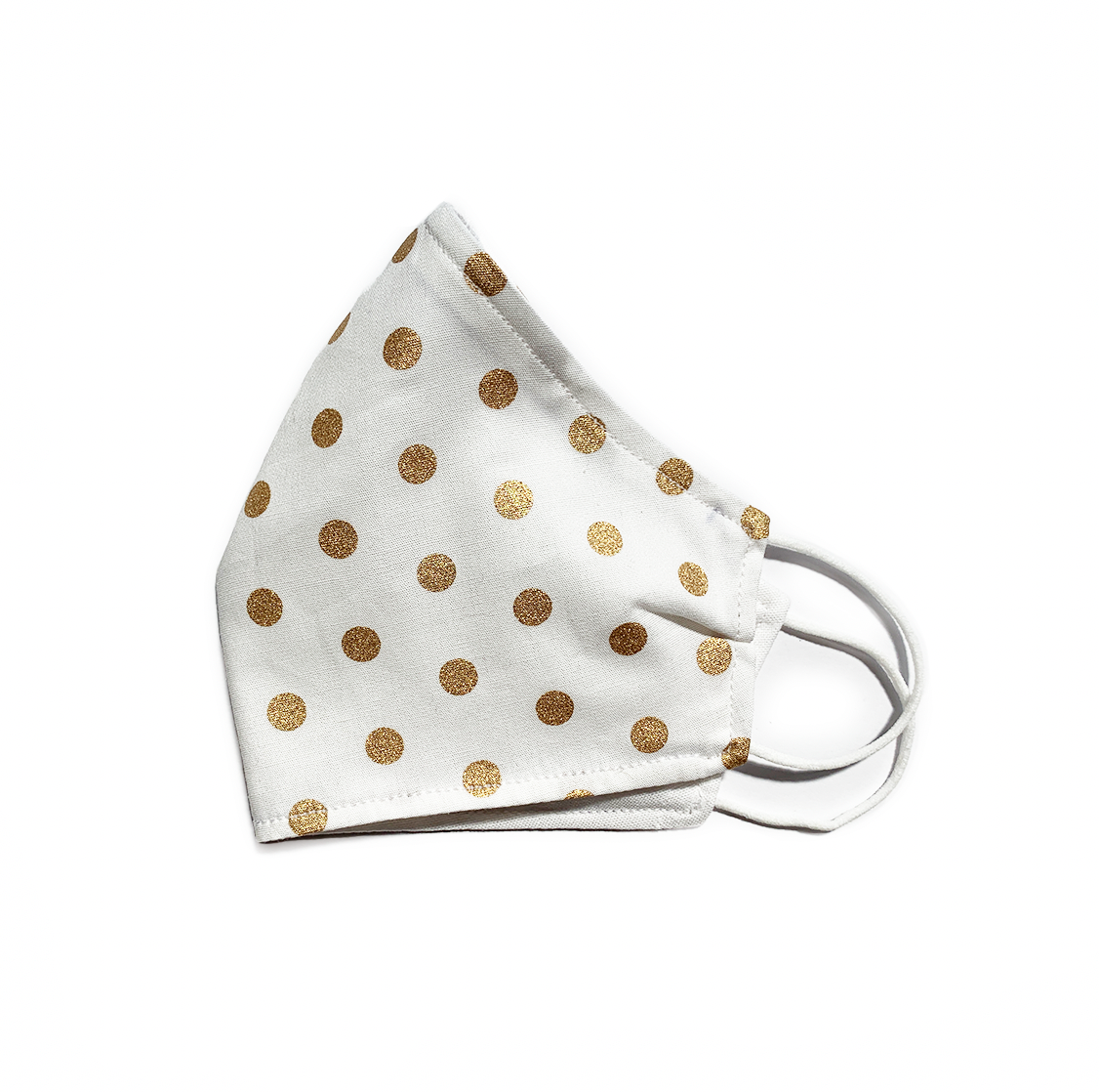 Gold Polka Dots (Reusable Face Mask)