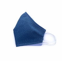 Navy Triangles (Reusable Face Mask)