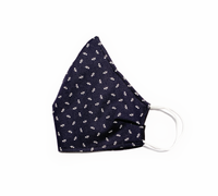 Navy Blue Roses (Reusable Face Mask)