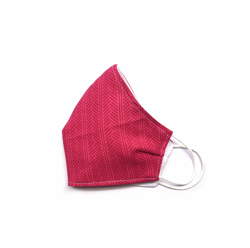 Pink Herringbone (Reusable Face Mask)