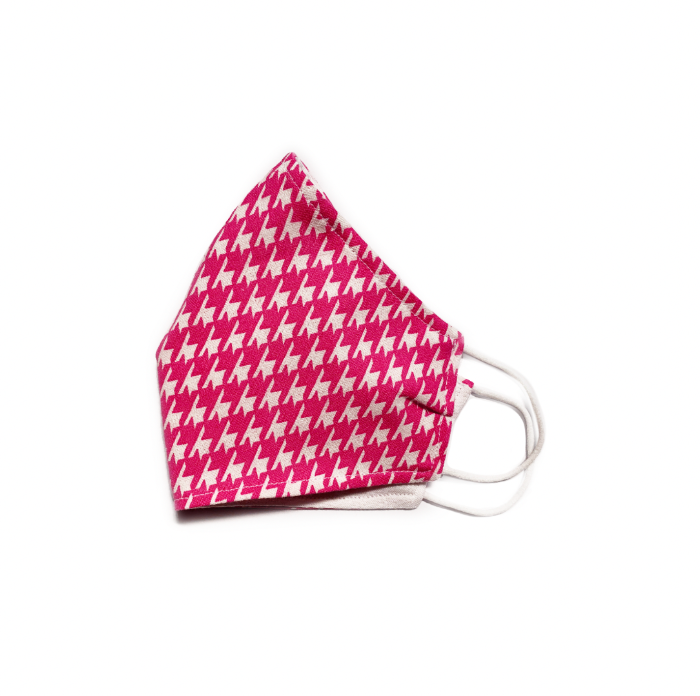 Pink Houndstooth (Reusable Face Mask)