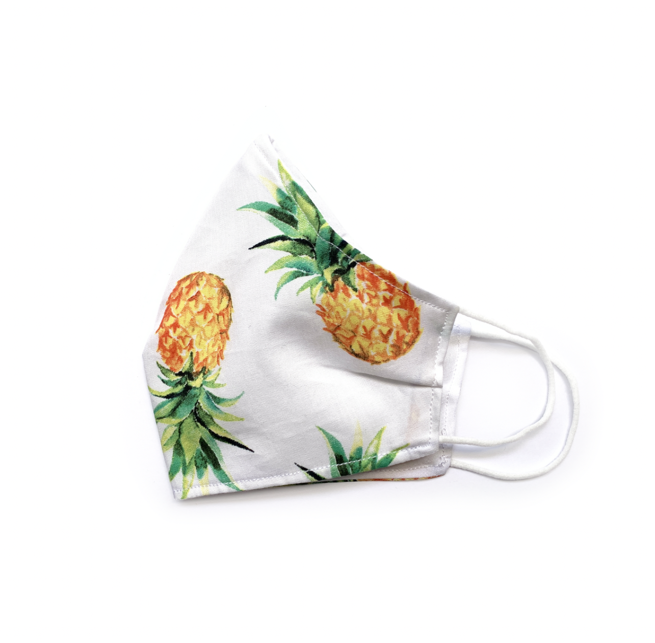 Pineapples (White) (Reusable Face Mask)