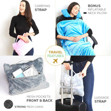 Load image into Gallery viewer, 4 in 1 Travel Blanket - Navy
