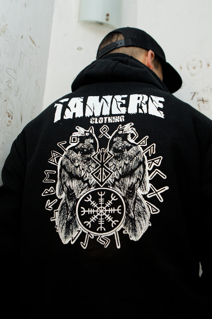 Sweat hoodies Corbeaux d'Odin - Tamere Clothing