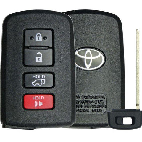 2 -Toyota 4 Button w/ Power Gate Smart Remote Replacement Shell