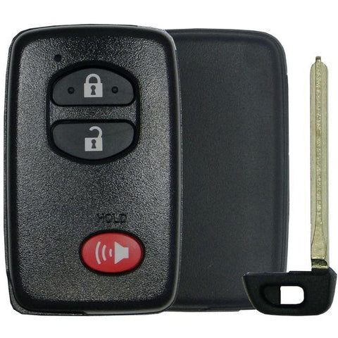 2- Toyota 3 Button Smart Remote Replacement Shell