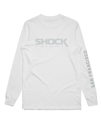 SF Shock Frequency White LS Sleeve