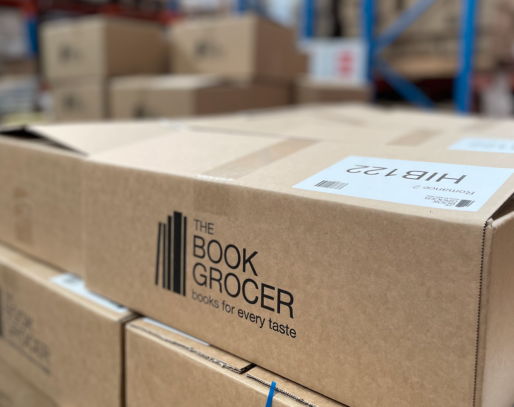 A Book Grocer Bargain Box ready to ship