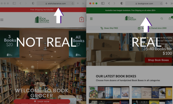 The true Book Grocer site