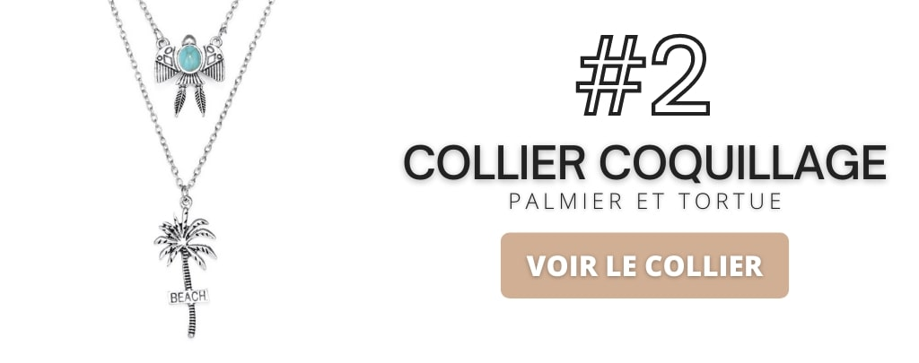 Collier coquillage palmier