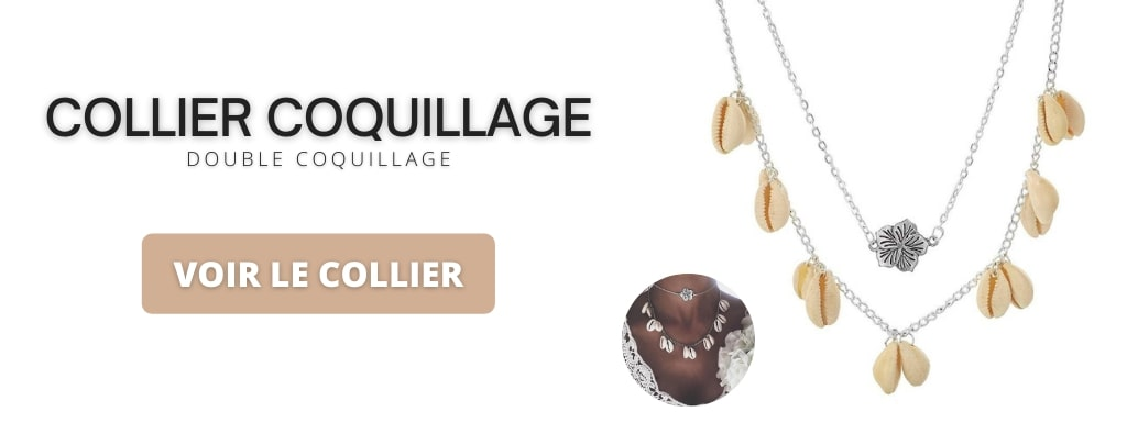 Collier double coquillage